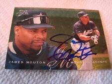 1995 Flair # 362 James Mouton Autogramm/signed card Houston Astros