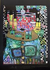 Friedensreich Hundertwasser Lithograph With Foil Embossing Antipode King 1997