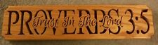 Proverbs 3:5 wooden religious plaque red oak
