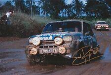 Jean Ragnotti foto firmada de mano 12x8 Renault Rally 1.