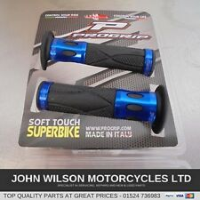 Suzuki GSXR750 W GSXR1100 W Blue Aluminium Handlebar Soft Grips