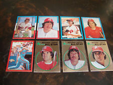1982 Topps Baseball---Stickers---Lot Of 8--No Dupes--Schmidt, Rose, Carlton Only