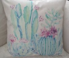 Shabby Chic Pastel Pink Blue Green Country  Cotton Blend Cushion Cover FREEPOST
