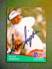 Scott Simpson - 1991 Proset Autographed PGA Golf card # 125 - Tour card