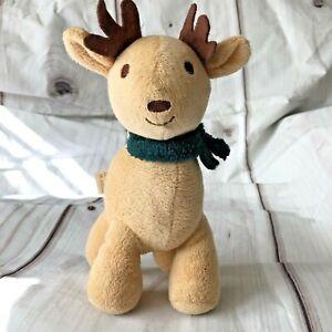 "INF Inc Reindeer Stuffed Animal Toy Scarf Lovey RN 130369 8"""