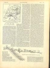 Afrique du Sud république du Transvaal mine d'or mineurs cafres GRAVURE 1895