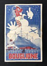 Programme Cirque BOUGLIONE 1948
