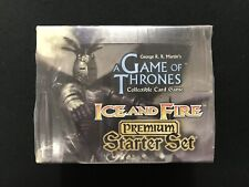 A Game of Thrones CCG Fire & Ice Premium Starter Set Box - Factory Sealed