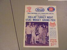 November 24,1977 Usac Midget Turkey Night Race Program,Ascot ,Gardena,Ca.,Jones