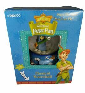 "Disney Enesco Classics Peter Pan Musical Waterball Snow Globe""You Can Fly"" VTG"