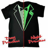 Funny T Shirt Tuxedo GLOW IN THE DARK T-SHIRT tux suit party formal tshirt gift