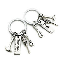 Wrench Letters Screwdriver Hammer Key Chain Charm Pendant Jewelry Car Key Ring