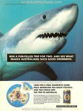 """1994 FOSTERS LAGER A3 POSTER AD """"WHAT MAKES AUSTRALIANS SUCH GOOD SWIMMERS"""""""