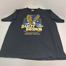 New listing Vtg 90s Harley Davidson Motorcycles Freeport Bahamas American Eagle T Shirt L