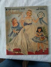 Original Heavenly Blue Wedding Paper Doll Dolls Book 1955 Merrill Co. Complete