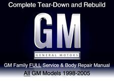 GM Family 1998-2005 Full Service Repair Workshop Manual Custom Disc Software