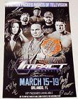 TNA IMPACT SIGNED MINI POSTER - Hardy, EC3, Beer Money, Mike Bennett, etc.