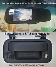 """Backup camera & rear view monitor 4.3"""" for Ford F150 2005-14, F250 F350 2008-16"""