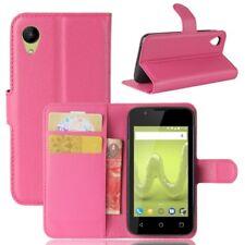 Bolsa Wallet Premium Rosa para Wiko Sunny 2 Funda Funda Protectora Accesorio