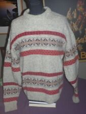 Edward Bryan England Men's Large Wool / Alpaca Blend Sweater Gray & Red