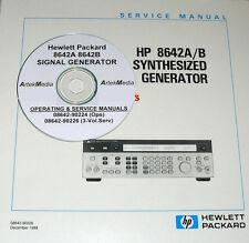 HEWLETT PACKARD Ops+Service Manual Set (4-Vols) for the 8642A 8642B Generator