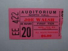 JOE WALSH 1975 Concert Ticket Stub MEMPHIS TN NORTH HALL Rare JAMES GANG Eagles
