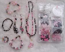 Bead Kits Jewelry Pink Jewelry Kit Craft Make Diy for Girls Kids Children Craft