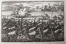TRIESTE PORTO HAFEN TRIEST 1702 ITALIEN OR.-KUPFERSTICH TRST ADRIA