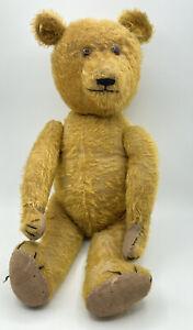"Rare 18"" 1920 German Golden Mohair Teddy Bear Antique Petz Anton Kiesewetter"