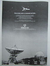 1/1980 PUB THOMSON-CSF TELECOMMUNICATIONS SPATIALES SATELLITE ANTENNE AD