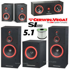 Cerwin Vega SL 5.1 Surround Sound Theater Bundle SL-5M SL-25C SL-10S SL-12