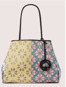 NWT Kate Spade Large Everything Spade Floral Yellow Multi Tote