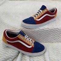 Vans Corduroy Old Skool Mens Sneakers Blue Red Orange Size 13 Skateboarding Bmx