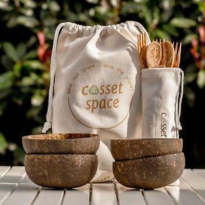 Raw - Regular Combo 2/4 Coconut Bowl - Cutlery Set