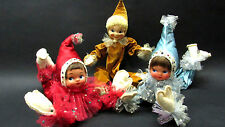 Vtg 40s 50s Holiday ELF PIXIE Mid Century Modern Christmas DOLL clown kitsch