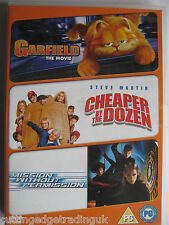 Garfield The Movie/ Cheaper By The Dozen/ Mission Without Permission DVD 3 Discs