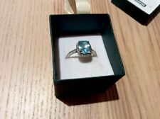 Stunning Silver Ring 925 Blue Beautiful Design