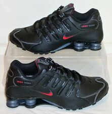 New Nike Shoes Shox NZ Black Red Mens US Size 8.5 UK 7.5 EUR 42 378341 017