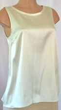 BRUNELLO CUCINELLI SILK IVORY CHAIN TRIM ON THE BACK OF THE NECK TO/BLOUSE SZ XL