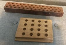 Antique Or Vintage Reloading Wooden Block Trays Set Of Two