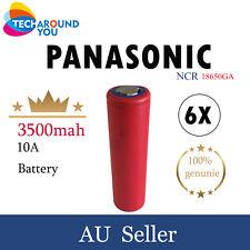 6x Panasonic-Sanyo NCR18650GA 3500mAh Lithium Li-Ion Rechargeable batteries