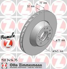 Zimmermann 150.3415.75/150.3416.75 Delantero Discos De Freno Par (Fórmula Z)