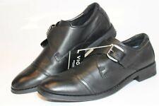 Vionic Mens Size 7 Wide 40 Ethan Leather Buckle Monk Strap Comfort Shoes TVM4036