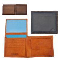 Mens Gents Luxury Genuine Leather Rowallan Flip Up Wallet Purse Black Brown Tan