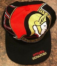 EUC Rare Vintage 90s The Game Big Logo Ottawa Senators NHL Snapback Hat Wool