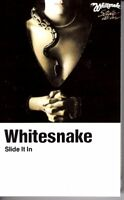 Whitesnake Slide It In Cream Shell 1984 Hard Classic Rock Roll Cassette Tape Pop