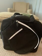 New listing Ame & Lulu Sweet Shot Tennis Tote (Black /White) with Green Handle- Preowned