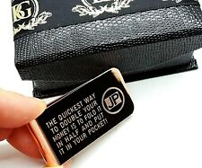 Engraved Money Clip Credit Card Rose Gold Clad Luxury Gift Box Personalised