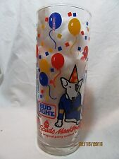 """BUD LIGHT BEER """"SPUDS PARTY ANIMAL"""" 1987 BLUE SWEATER DRINKING GLASS"""