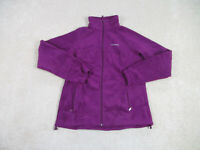 Columbia Sweater Womens Large Purple Gray Fleece Full Zip Casual Ladies A79